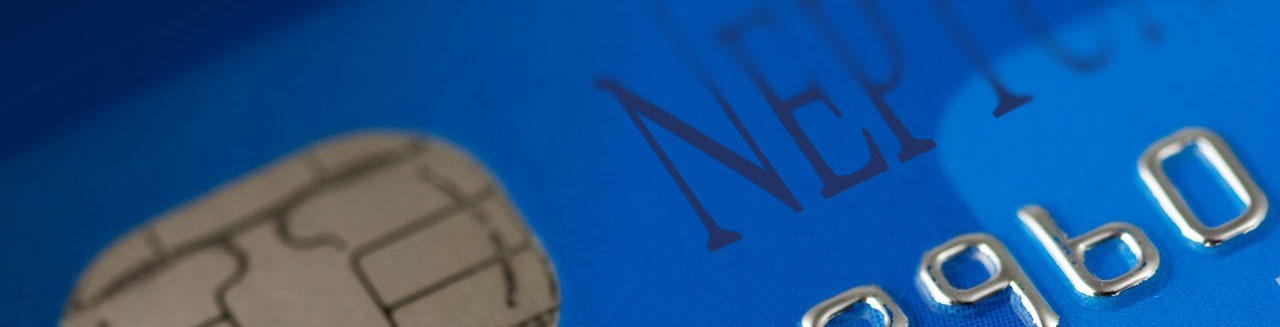 Close up section of a blue chip and pin card.
