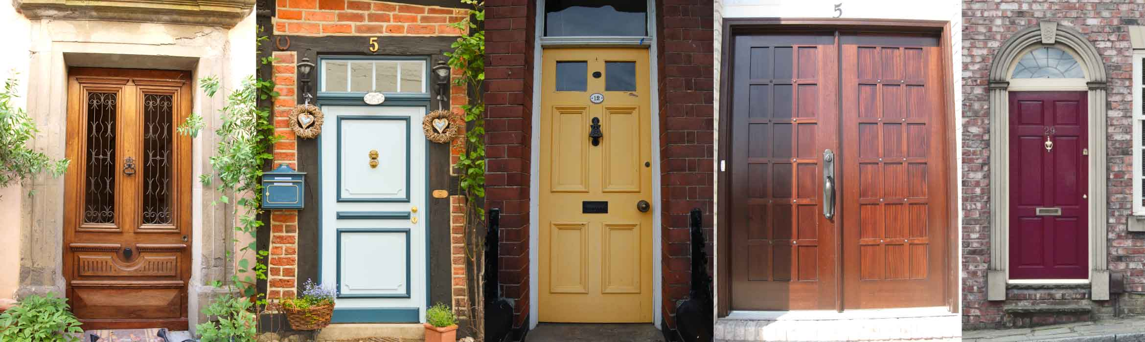 A varied collection of front doors from personalised with plants letterboxes and ornaments to & Canvasser