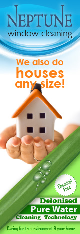 We do houses any size. Hand holding a small house. Chemical free cleaning, environmentally friendly.